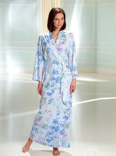 0158 - Himmelblau - Kimono aus weichem Jersey