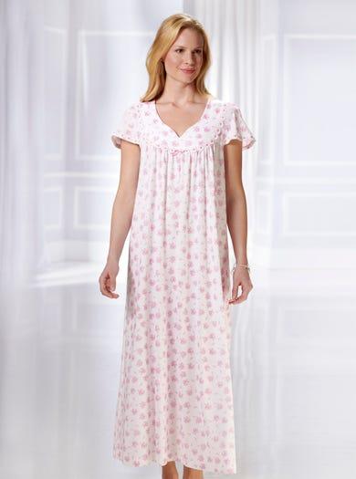 0841 - Kamelie - Weiches Jerseynachtkleid