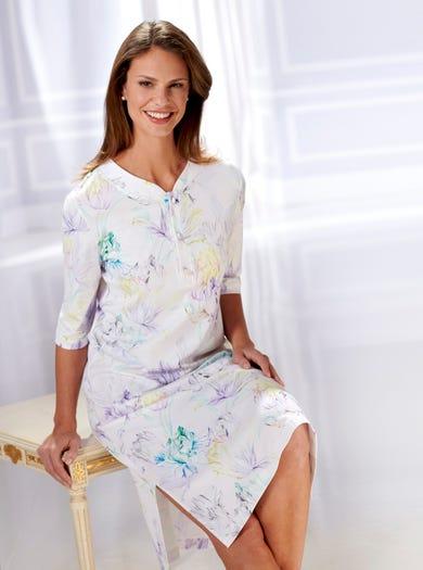 0856 - Wasserfarbe - Modernes Baumwollnachthemd