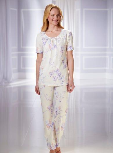 0885 - Pastell - Bequemer Baumwollschlafanzug