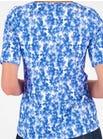 6681 Blue Fleur Top