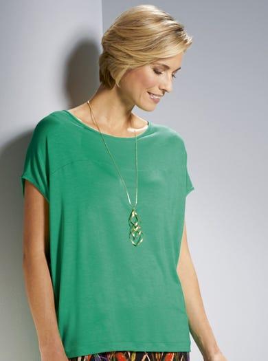 3816 - Grün - Wunderbar bequemes Jersey-T-Shirt