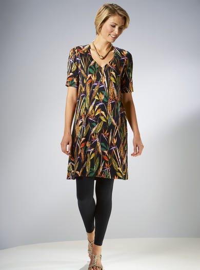 3862 - Paradiesvogel - Bequemes Kleid aus Stretchjersey