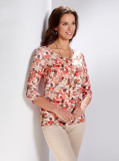 4280 - Farbtupfer - Luxuriöses Jerseyshirt