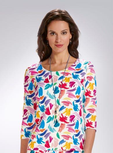 5310 - Pinselstriche - Apartes Jerseyshirt