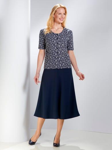 5321 - Marineblau - Bluse aus reiner Baumwolle