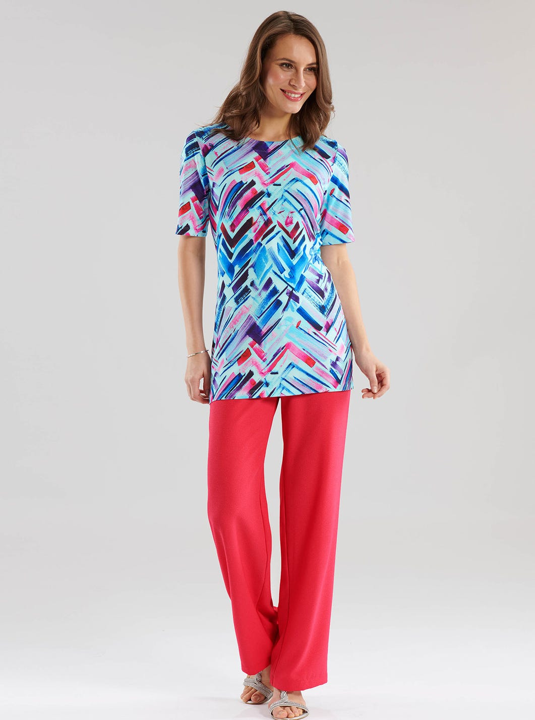 Tunique colorée en jersey