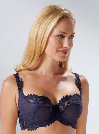 9272 - Marineblau - 'Thalia' Luxuriöser Spitzen-BH