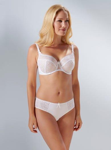 9293 - Weiß - 'Kate' Bestickter Bügel-BH