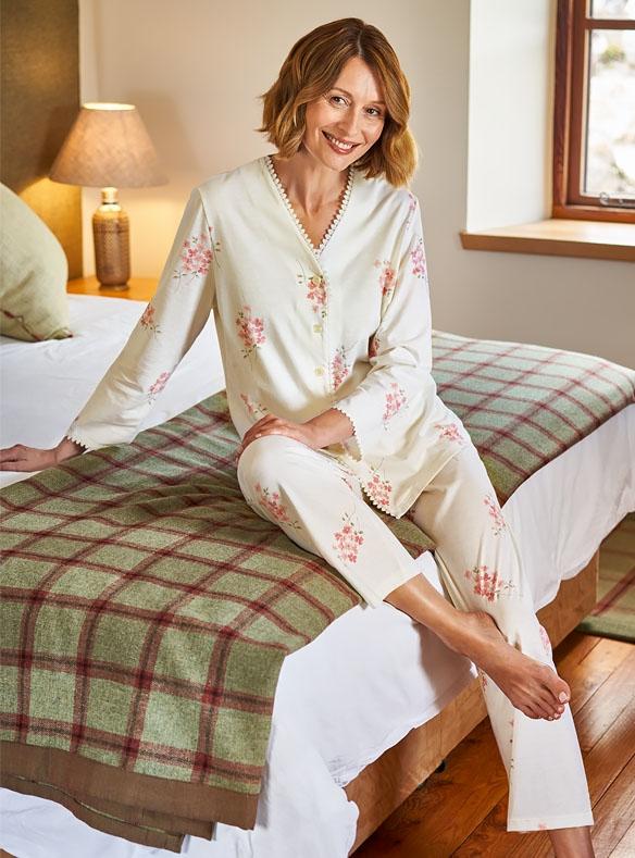 Pyjama-veste à manches longues