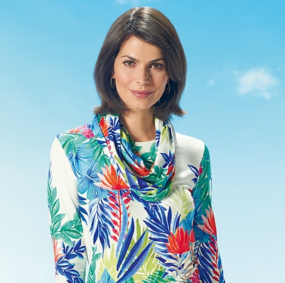 For a bright new look try a tropical print